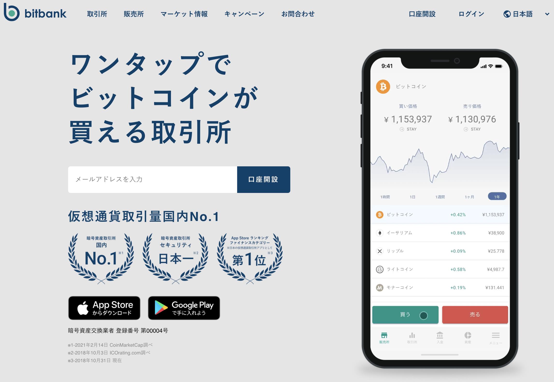 bitbnk(ビットバンク)トップページ